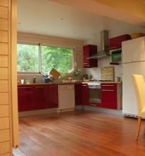 Intérieur d'une maison bois à Nantes