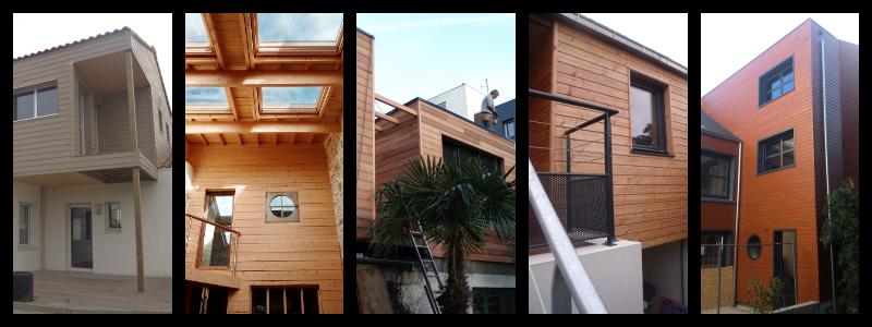 Exemples de surélévations bois de maisons