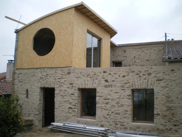 Surélévation de maison à Monnières (44) - Vue extérieure