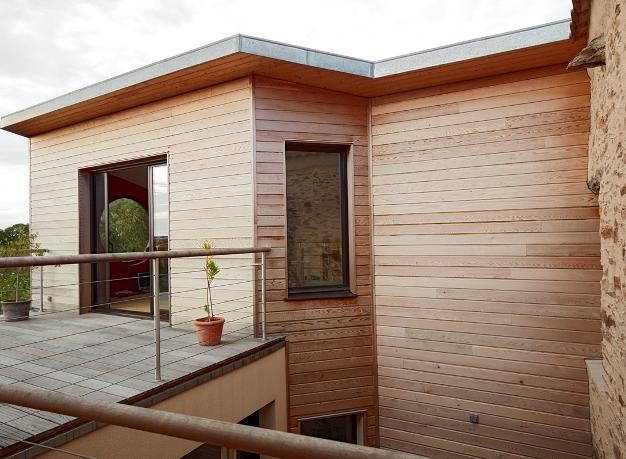 Surélévation de maison à Monnières (44) - Vue terrasse