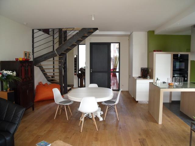 Maison à ossature bois à Nantes (intérieur)