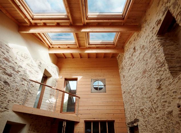 Extension bois à Monnières (44) - vue intérieure