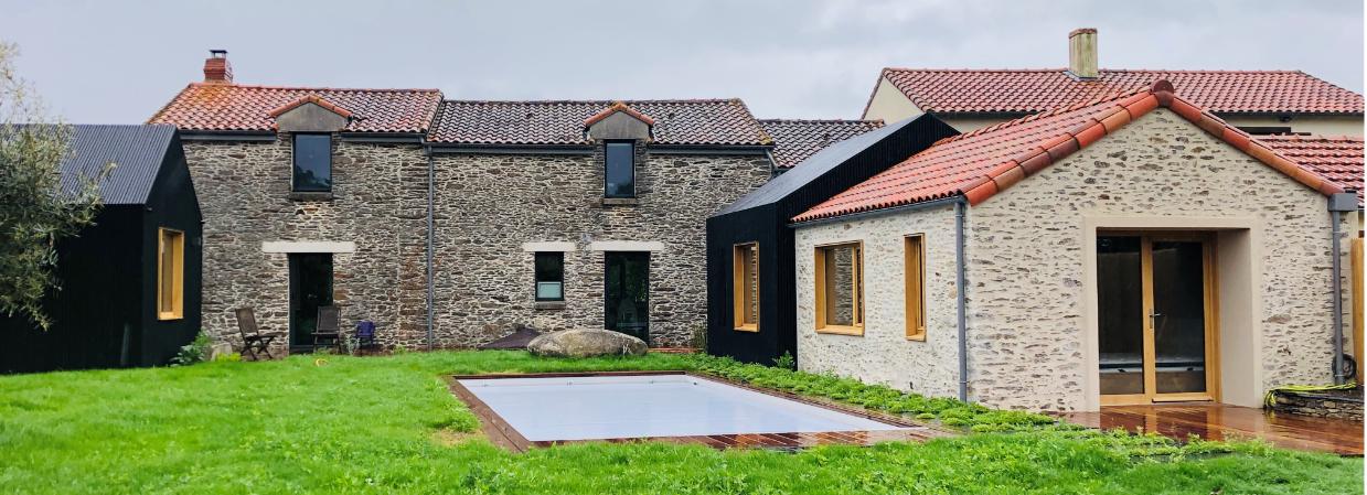 """Extension et rénovation d'une maison d'habitation avec la collaboration du cabinet d'architecte """"Soon architecture"""""""